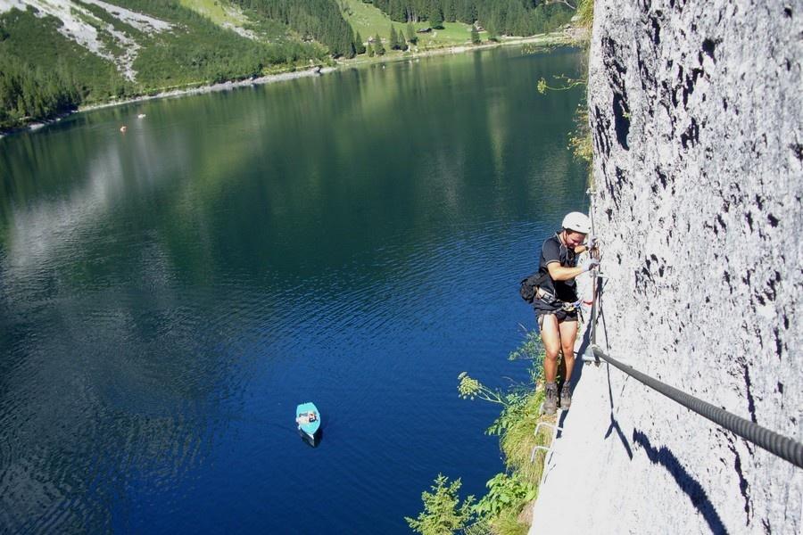 Laserer Alpin Klettersteig : Dachsteinblick am laserer alpin klettersteig outside adventure